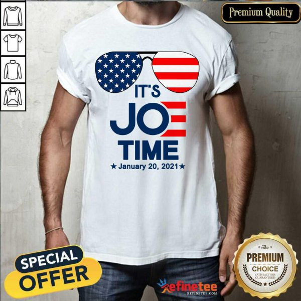 Excellent Glasses American Flag It's Joe Time January 20 2021 Shirt