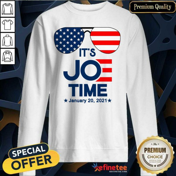 Excellent Glasses American Flag It's Joe Time January 20 2021 Sweatshirt