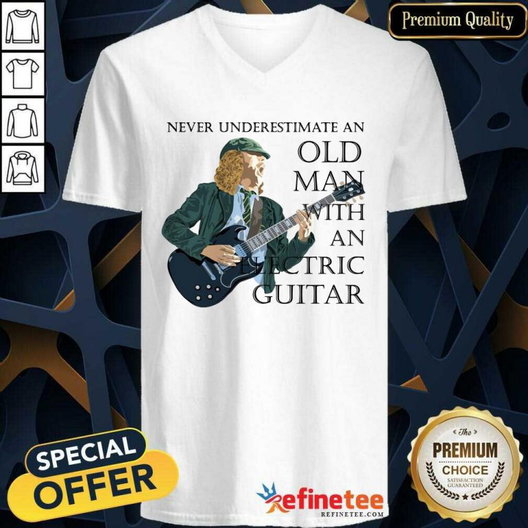 Excellent Never Underestimate An Old Ma n With An Electric Guitar-neck