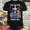 Excellent One Nation Under God Tennessee Titans Shirt - Design By Refinetee.com