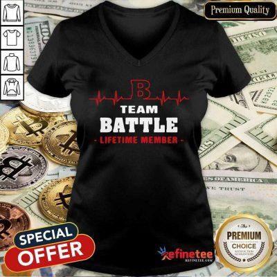 Excellent Team Battle Lifetime Member V-neck - Design By Refinetee.com