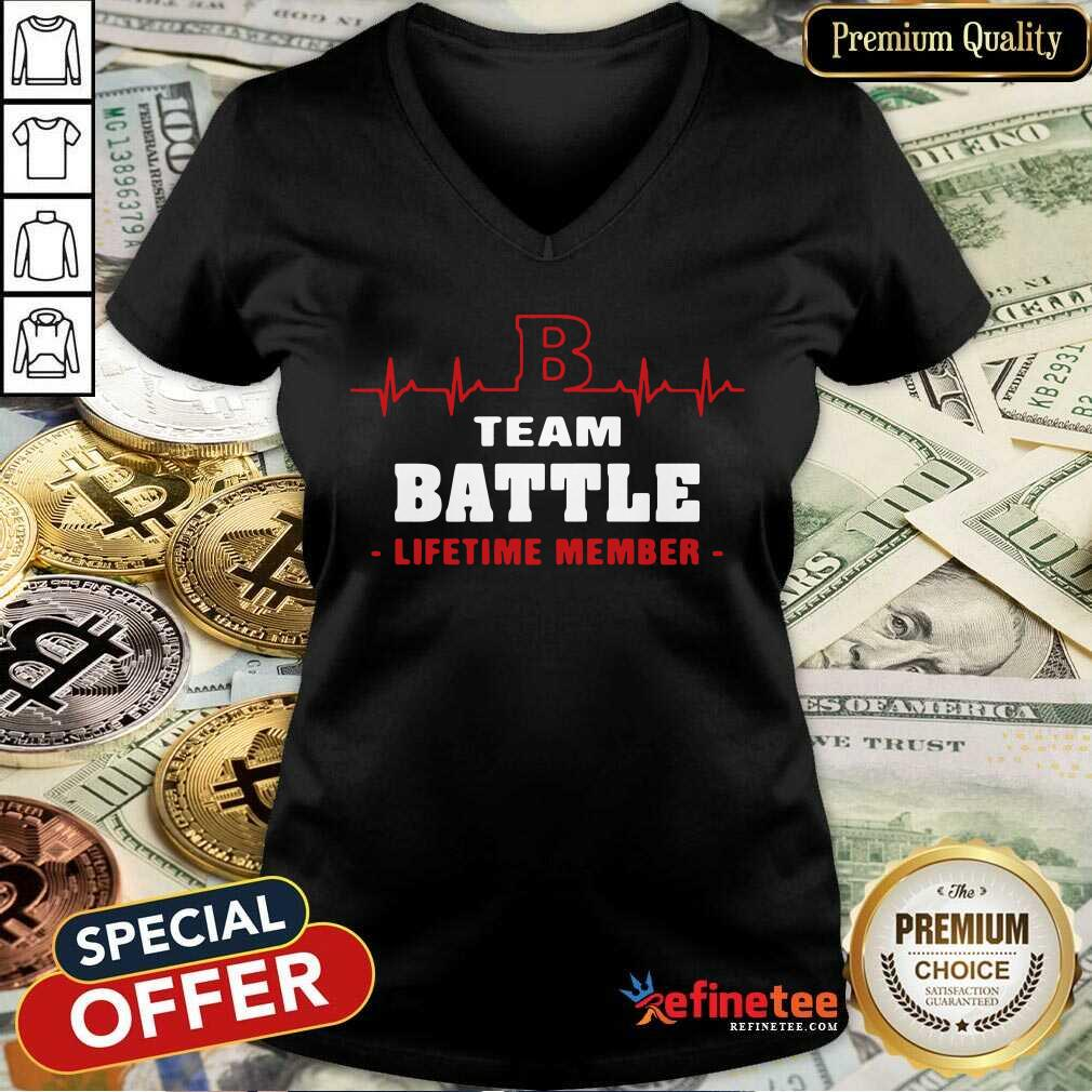 Team Battle Lifetime Member V-neck - Design By Refinetee.com