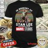 Fantastic In Memory Of Stan Lee November 12 2018 Marvel Studios Signature Vintage Retro Shirt - Design By Refinetee.com