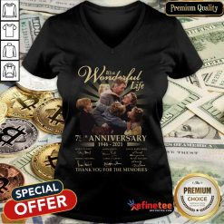 Good Its A Wonderful Life 75th Anniversary Thank You For The Memories Signature V-neck