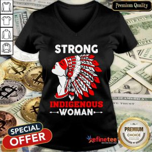 Great Strong Indigenous Women V-neck - Design By Refinetee.com