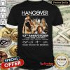 Happy The Hangover 12th Anniversary Thank You For The Memories Signature Shirt