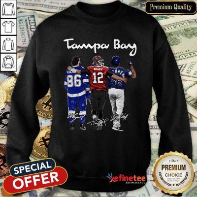 Hot Tampa Bay Nikita Kucherov Tom Brady Mvp Signatures Sweatshirt