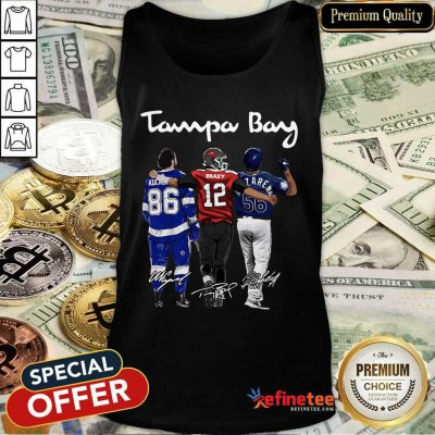 Hot Tampa Bay Nikita Kucherov Tom Brady Mvp Signatures Tank Top