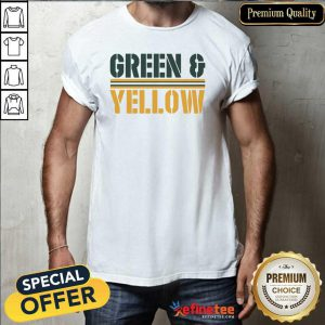 Lovely Green and Yellow Green Bay Football Shirt