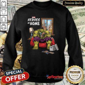 Lovely Marvel Heroes At Home Hulk Sweatshirt - Design By Refinetee.com
