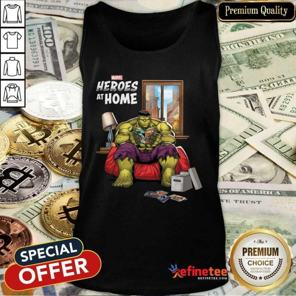 Lovely Marvel Heroes At Home Hulk Tank Top - Design By Refinetee.com