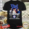 Lovely The Who 57th Anniversary Thank You For The Memories Signatures Shirt - Design By Refinetee.com