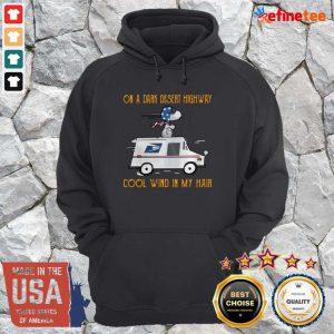 Nice Snoopy USPS On A Dark Desert Highway Cool Wind In My Hair Hoodie