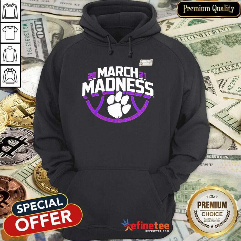 Funny Clemson Tigers 2021 NCAA Mens March Madness Hoodie