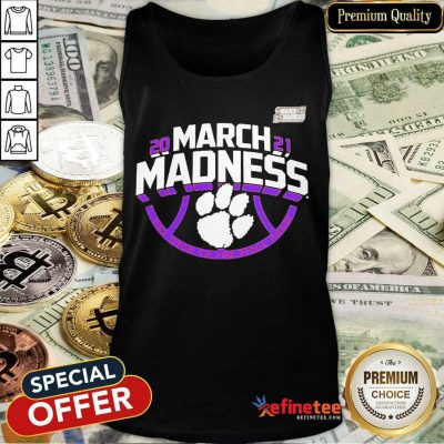 Funny Clemson Tigers 2021 NCAA Mens March Madness Tank Top