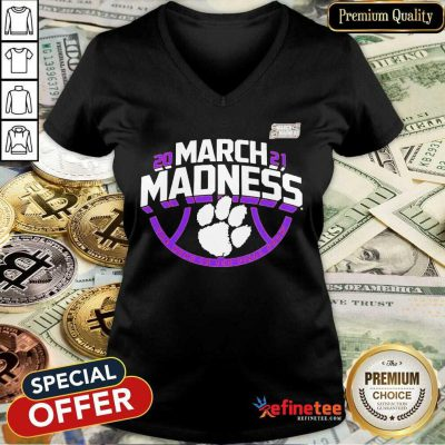 Funny Clemson Tigers 2021 NCAA Mens March Madness V-neck