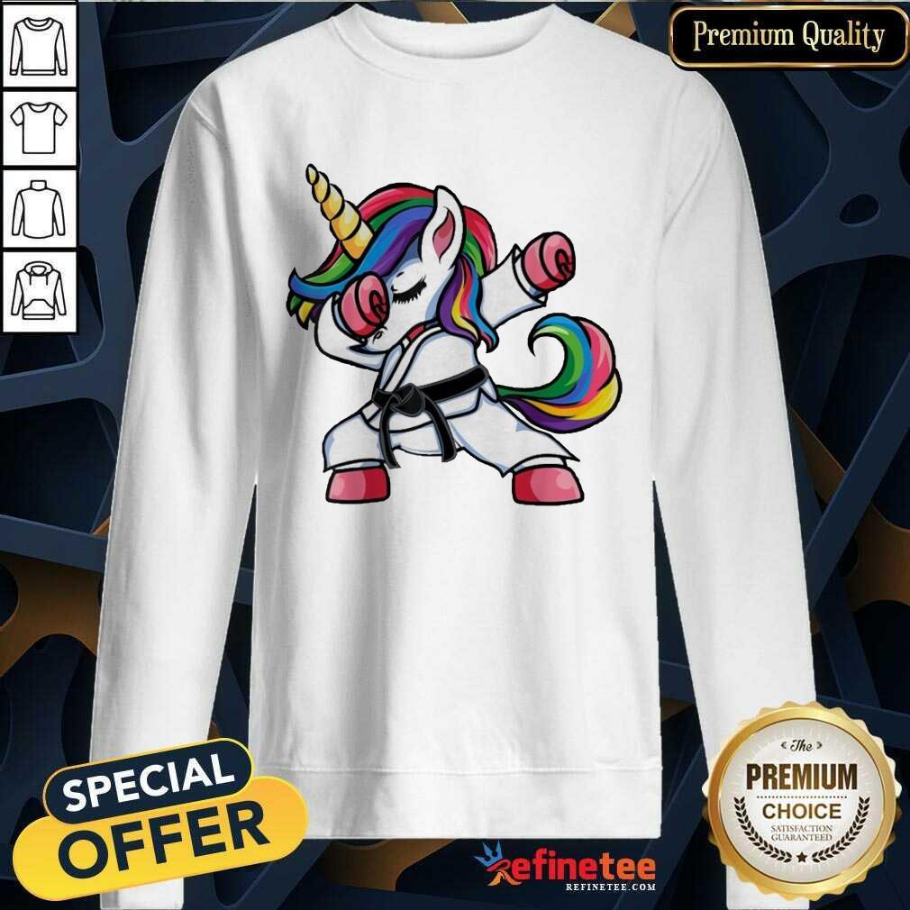Funny Jiu Jitsu Dabbing Unicorn 2021 Sweatshirt