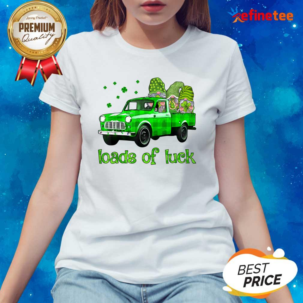 Gnomes Truck Loads Of Luck St Patrick's Day Ladies-tee
