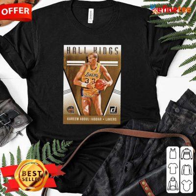 Hot 2018 2019 Donruss Hall Kings Basketball Card 12 Kareem Abdul Jabbar Los Angeles Lakers Ladies-tee