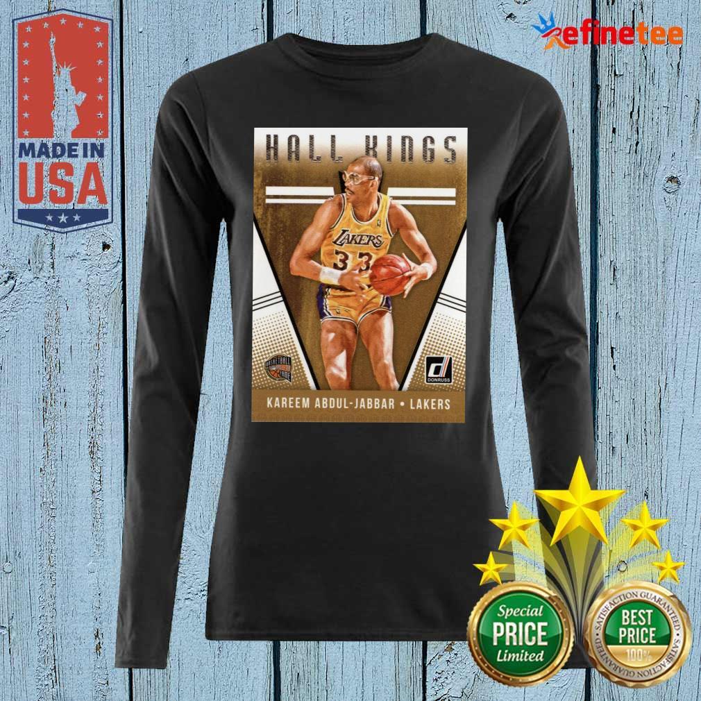 2018 2019 Donruss Hall Kings Basketball Card 12 Kareem Abdul Jabbar Los Angeles Lakers Long-sleveed
