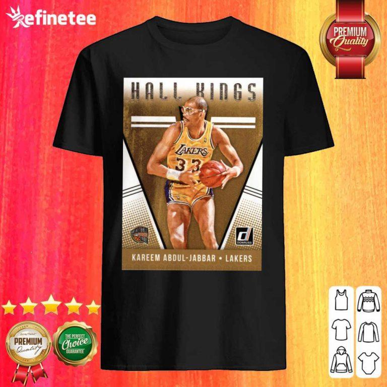 Hot 2018 2019 Donruss Hall Kings Basketball Card 12 Kareem Abdul Jabbar Los Angeles Lakers Shirt