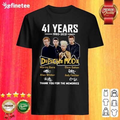 Nice 41 Years 1980 2021 D P CH MOD Thank You For The Memories Signatures Shirt