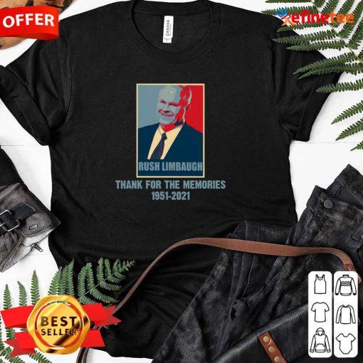 Nice Rip Rush Limbaugh Thanks For The Memories 1951 2021 Obama Style Ladies-tee