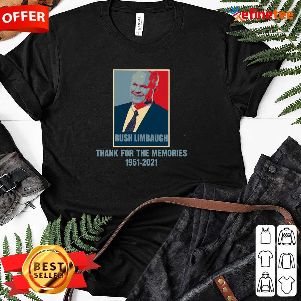 Rip Rush Limbaugh Thanks For The Memories 1951 2021 Obama Style Ladies-tee