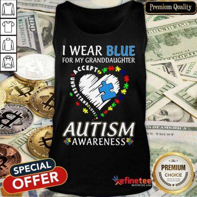 Premium Blue Autism Granddaughter Tank Top