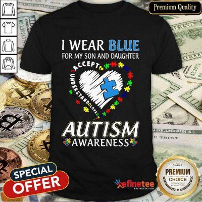 Top Blue Autism Daughter Awareness Shirt