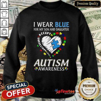 Top Blue Autism Daughter Awareness Sweatshirt