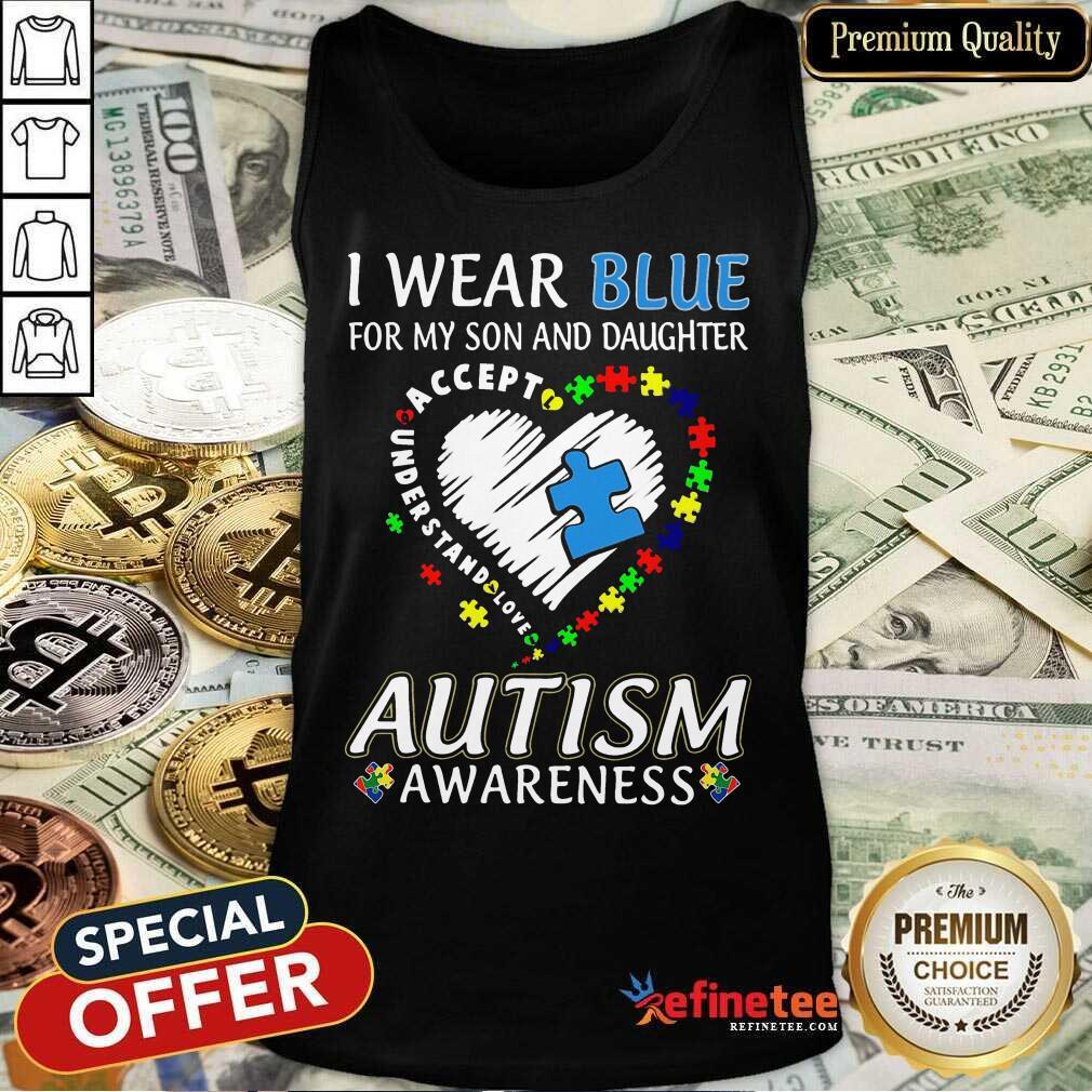 Top Blue Autism Daughter Awareness Tank Top