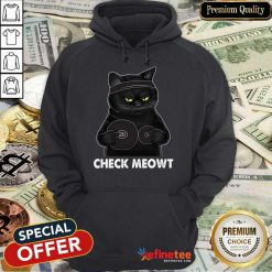 Awesome Check Meowt Black Cat Hoodie