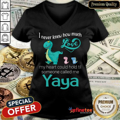 Awesome I Never Knew How Much Love Yaya Saurus V-neck