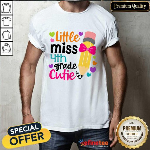 Excellent Little Miss 4th Grade Cutie Shirt