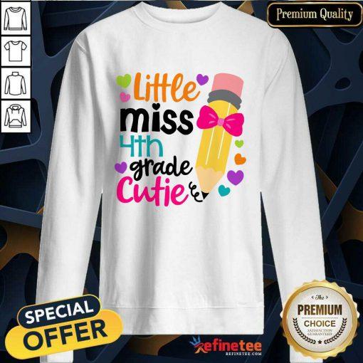 Excellent Little Miss 4th Grade Cutie Sweatshirt