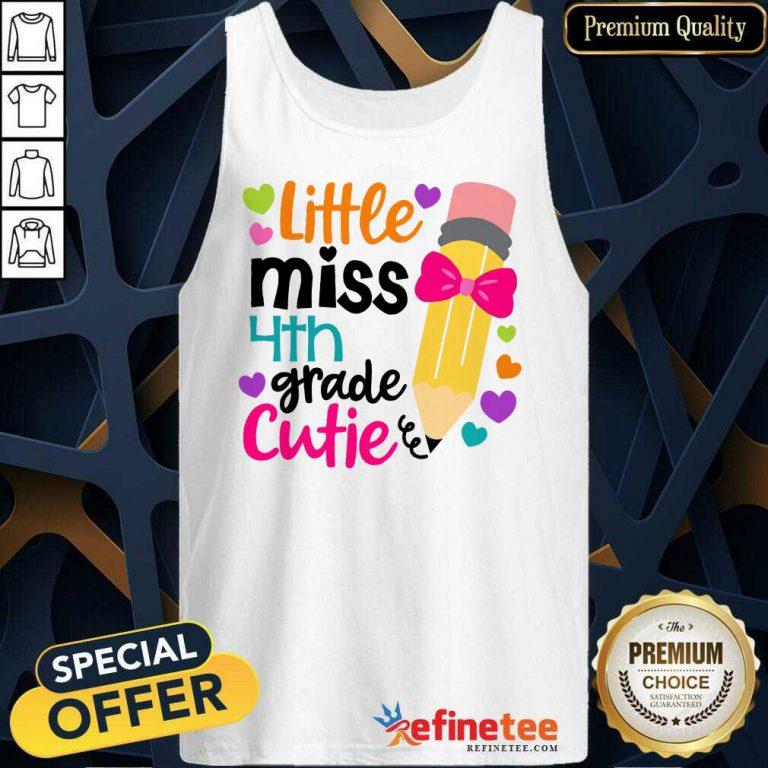 Excellent Little Miss 4th Grade Cutie Tank Top