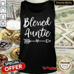 Funny Blessed Auntie Tank Top