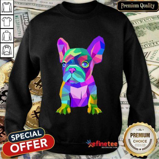 Funny Pop Art Cute French Bulldog Sweatshirt