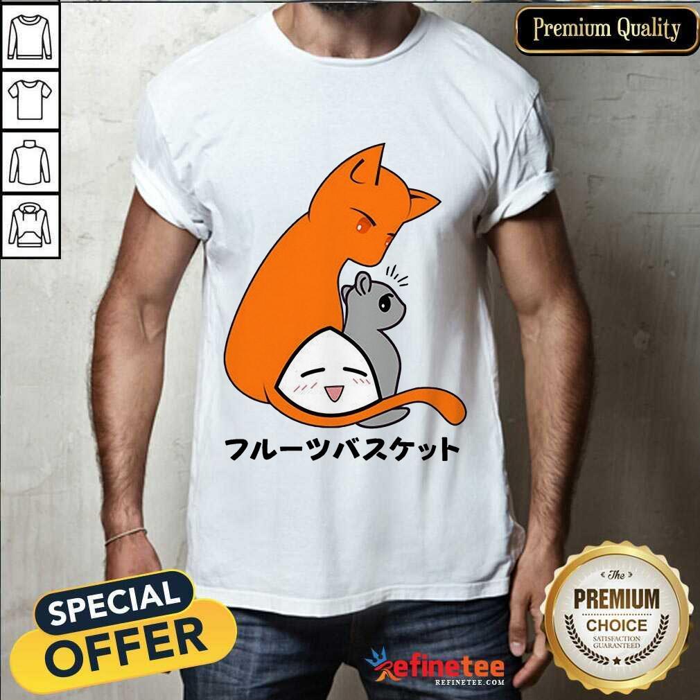 Good Fruits Basket Kyo Yuki Onigiri Cat Shirt