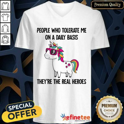 Good Unicorn People Who Tolerate Me On A Daily Basis V-neck