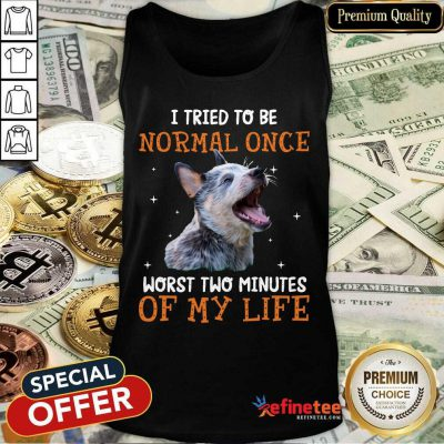 Heeler I Tried To Be Normal Once Worst Two Minutes Of My Life Tank Top