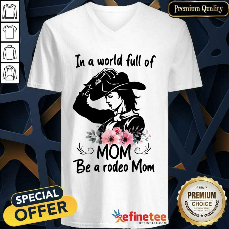 Hot Flower Dog Mom The Woman The Myth The Bad Influence V-neck