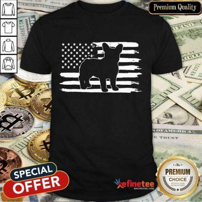 Hot French Bulldog USA Flag Shirt
