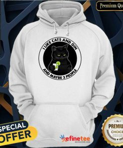 Hot I Like Cat And Gin And Maybe 3 PeHot I Like Cat And Gin And Maybe 3 People Hoodieople Hoodie