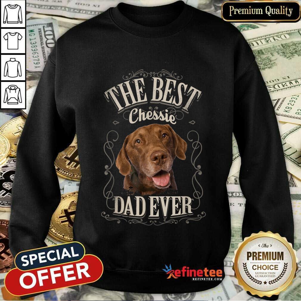 Perfect The Best Chessie Dad Ever Chesapeake Dog Sweatshirt
