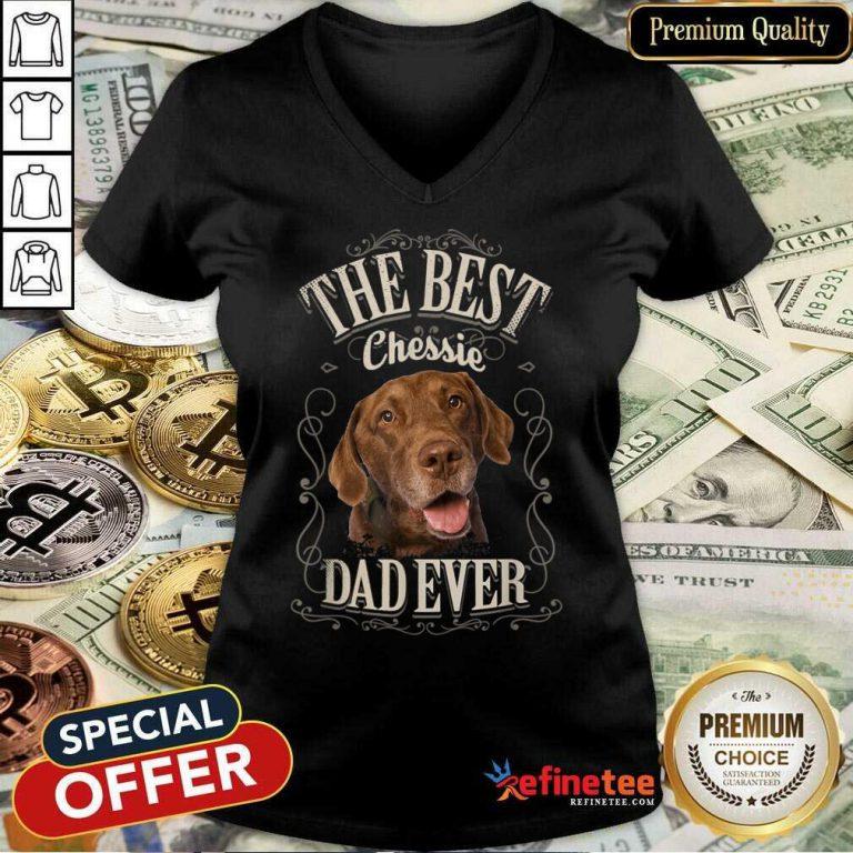 Perfect The Best Chessie Dad Ever Chesapeake Dog V-neck