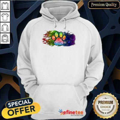 Premium Pisces Dog Paw Color Hoodie