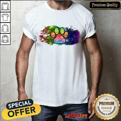 Premium Pisces Dog Paw Color Shirt