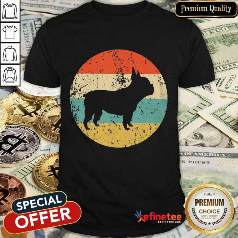 Top French Bulldog Retro 2 Shirt